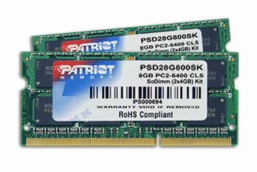 Patriot dizüstü bilgisayarlar için hazırladığı DDR2 bellekleri duyurdu