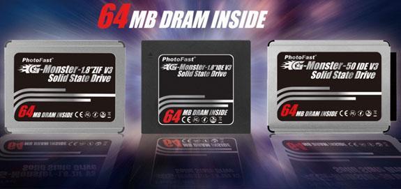 PhotoFast, G-Monster v3 serisi 1.8-inç SSD'lerini kullanıma sunuyor