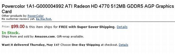 ATi Radeon HD 4770'in AGP versiyonu mu geliyor ?