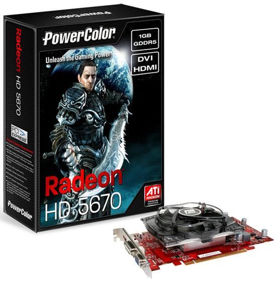 PowerColor Radeon HD 5670 modellerini duyurdu