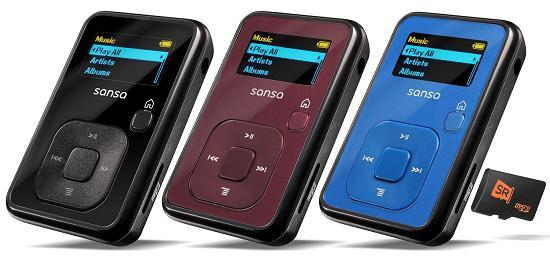 SanDisk yeni MP3 çalarını duyurdu; Sansa Clip+