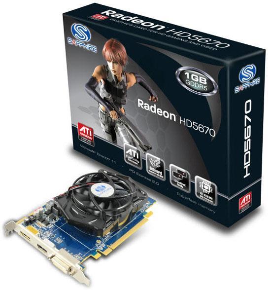 Sapphire Radeon HD 5670 modellerini pazara sunuyor