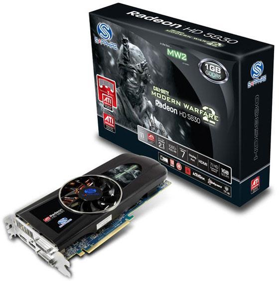 Sapphire Radeon HD 5830, CoD: Modern Warfare 2 ile geliyor