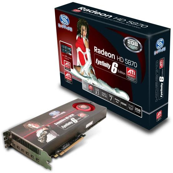 Sapphire Radeon HD 5870 Eyefinity6 Edition modelini duyurdu