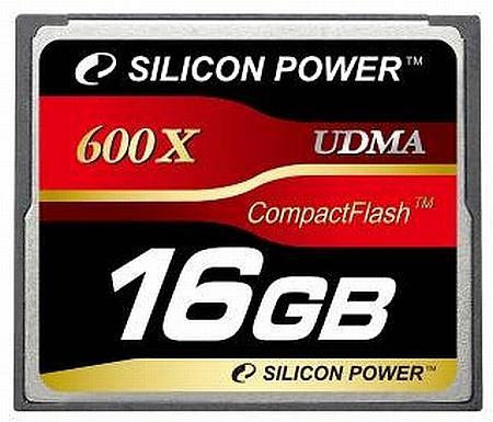 Silicon Power 600x performans derecelendirmeli CompactFlash bellek kartlarını duyurdu