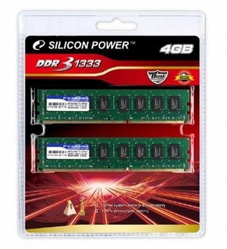 Silicon Power 4GB kapasitlei çift kanal DDR3 bellek kitini satışa sunuyor