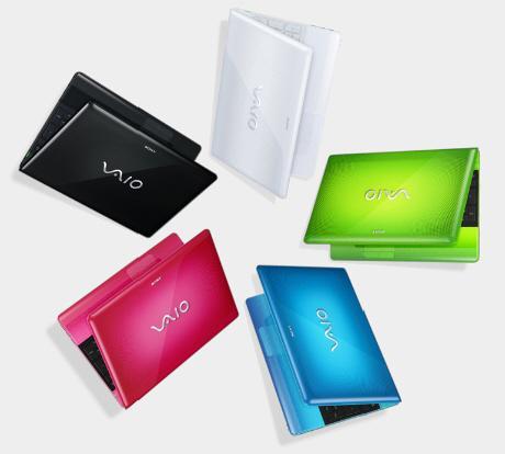 Sony'den VAIO E serisi rengarenk dizüstü bilgisayar