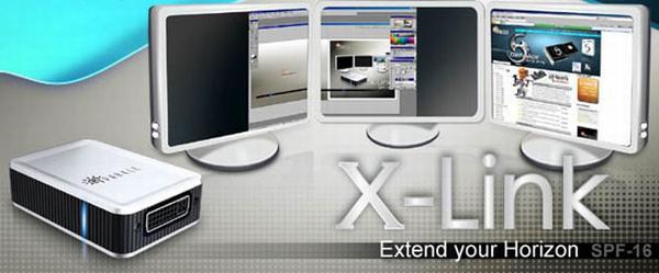 Sparkle X-Link: Harici adaptör ile USB portundan DVI çıkışı alabilirsiniz