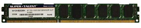 Super Talent çok-düşük profilli DDR3 bellek modülünü duyurdu