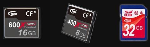 Team Group ComtpactFlash ve SDHC formundaki yeni bellek kartlarını duyurdu