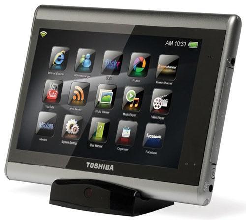 Toshiba'dan dokunmatik ekranlı yeni medya tableti; Journ.E Touch