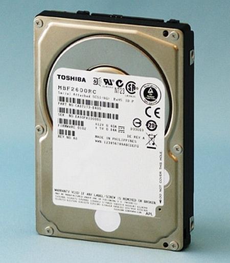 Toshiba 10,000 devir/dakika hızında çalışan 2.5-inç boyutundaki yeni sürücülerini duyurdu
