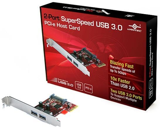 Vantec USB 3.0 genişleme kartı ve sabit disk kutularını duyurdu