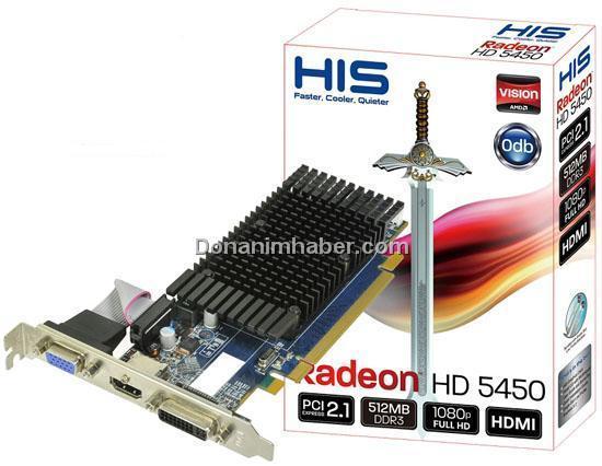 HIS, Radeon HD 5450 modellerini duyurdu