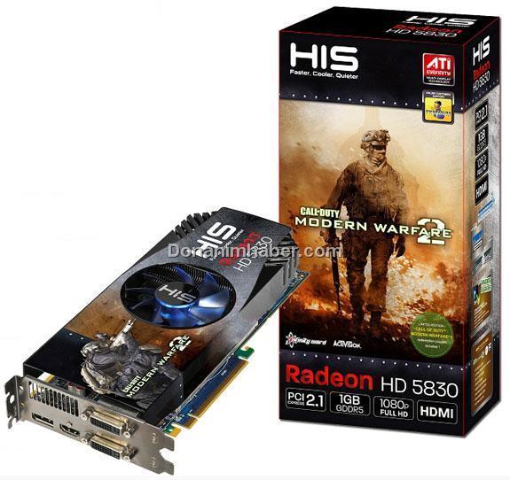 HIS'den hız aşırtmalı ve Modern Warfare 2 hediyeli Radeon HD 5830 modelleri
