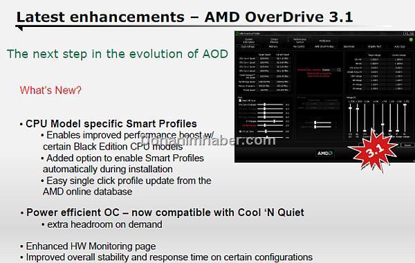 AMD'nin OverDrive 3.1 yazılımı 4 Kasım'da kullanıma sunuluyor
