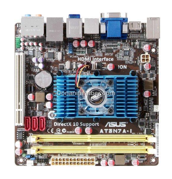 Asus'dan Nvidia ION tabanlı Mini-ITX anakart; AT3N7A-I