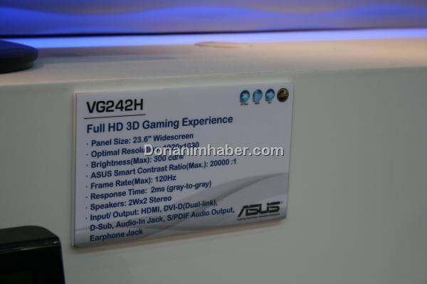 Computex 2009: Asus 120Hz Full HD LCD monitörünü gösterdi