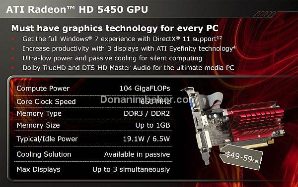 Ve DirectX 11 giriş seviyesinde; Huzurlarınızda ATi Radeon HD 5450