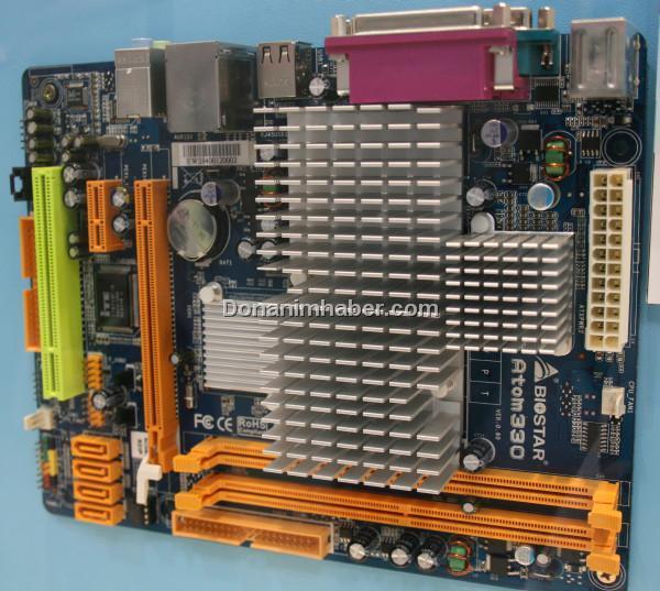 Biostar'ın Atom 330 işlemcili mini-anakartı PCIe x16 slotuyla geliyor