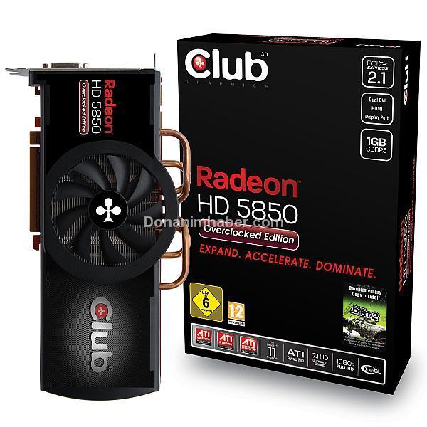 Club3D özel tasarımlı Radeon HD 5850 Overclocked Edition modelini duyurdu