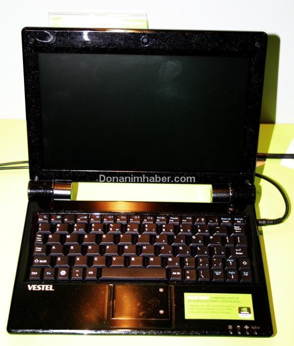 Computex 2009: Vestel'den Nvidia Tegra tabanlı netbook
