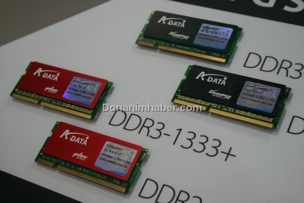 Computex 2009: A-Data'dan yüksek performanslı DDR3 SO-DIMM bellekler