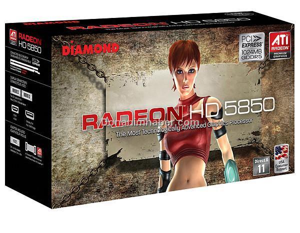 Diamond Radeon HD 5850 modelini duyurdu