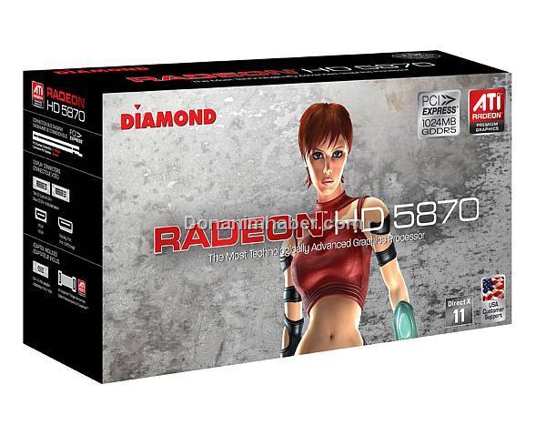 Diamond Radeon HD 5870 modelini duyurdu