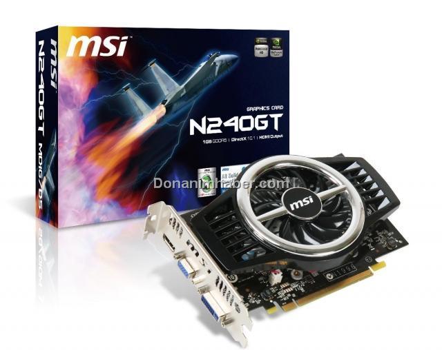 MSI özel tasarımlı GeForce GT240 Engine Fan modelini tanıttı