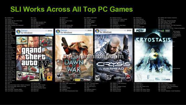 Nvidia: Windows 7 ile %15'e yakın oranda daha yüksek SLI performansı alınabilecek