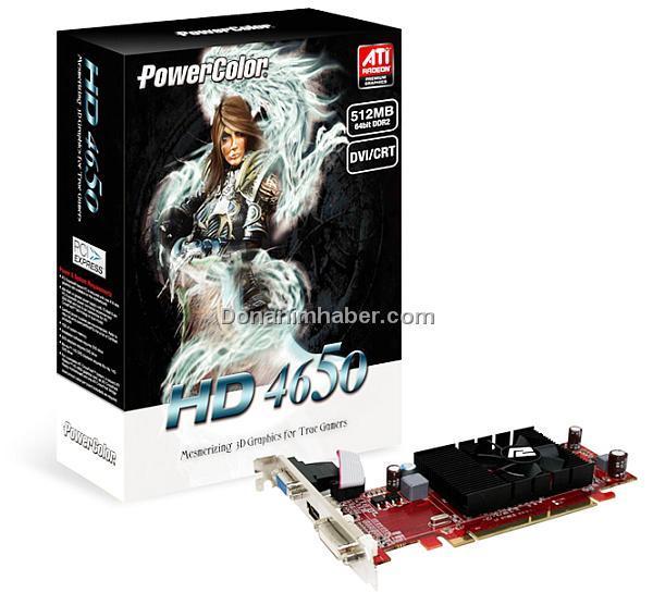 PowerColor 64-bit destekli Radeon HD 4650 modelini satışa sunuyor
