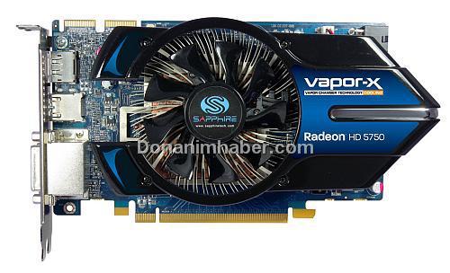 Sapphire Radeon HD 5750 Vapor-X gün ışığına çıktı