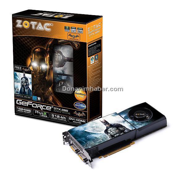 Zotac GeForce GTX 285 Batman Edition modelini kullanıma sunuyor