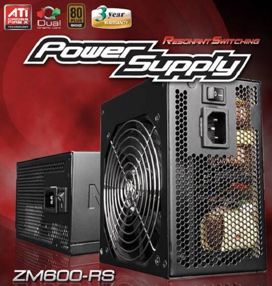Zalman'dan 600 Watt'lık yeni güç kaynağı; ZM600-RS