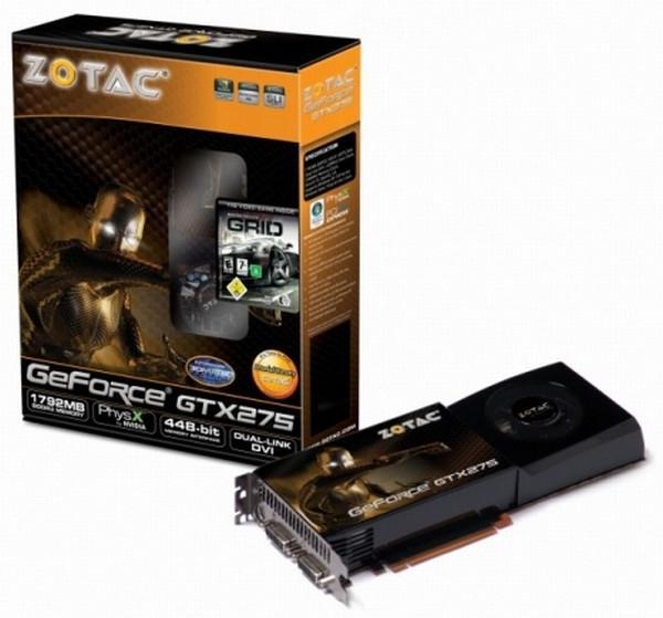 Zotac 1.8GB GDDR3 bellekli GeForce GTX 275 modelini duyurdu