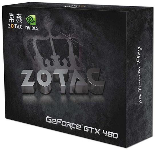 Zotac GeForce GTX 470 ve GeForce GTX 480'nin kutuları göründü