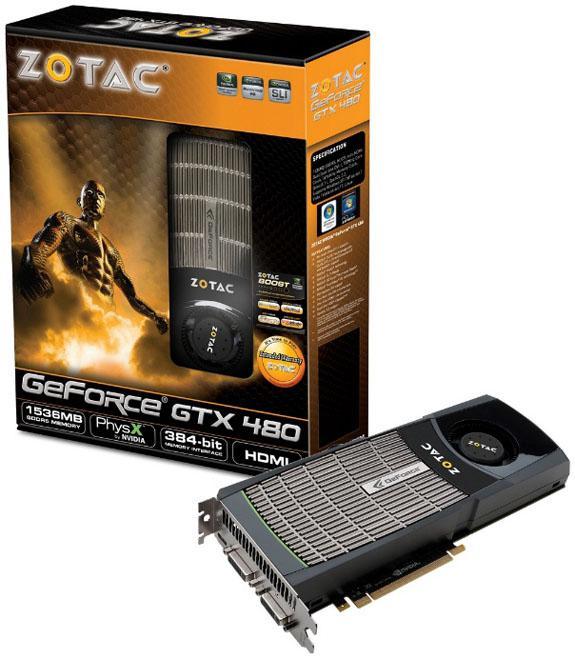 Zotac GeForce GTX 470 ve GTX 480 modellerini tanıttı