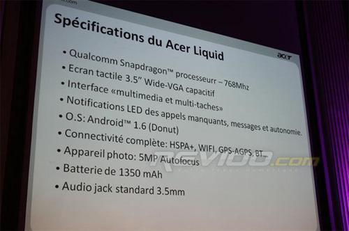 Acer, Liquid'deki Qualcomm Snapdragon'un saat hızını düşürecek