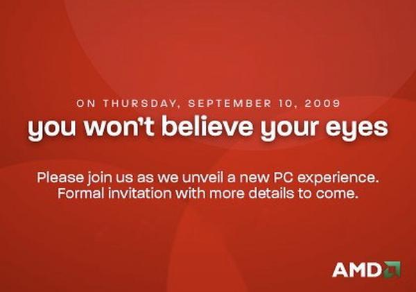 AMD-ATi: 'Gözlerinize inanamayacaksınız, 10 Eylül'ü bekleyin'
