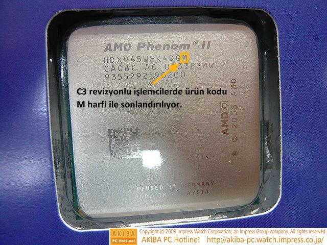 AMD C3 revizyonlu Phenom II X4 945 işlemcisini de satışa sundu