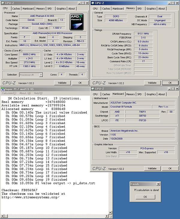 AMD işlemciler için SuperPi 1M'de yeni dünya rekoru