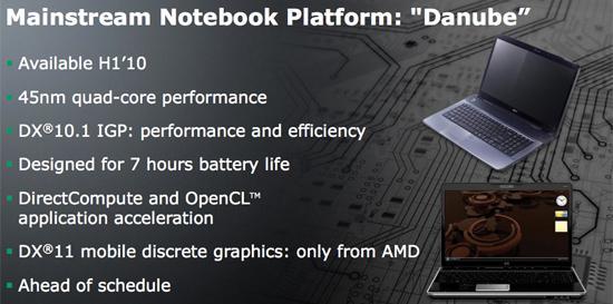 AMD dizüstü bilgisayarlar için Danube platformunu duyurmaya hazırlanıyor