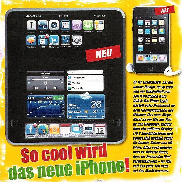 Alman medyası: Apple'ın tablet bilgisayarı