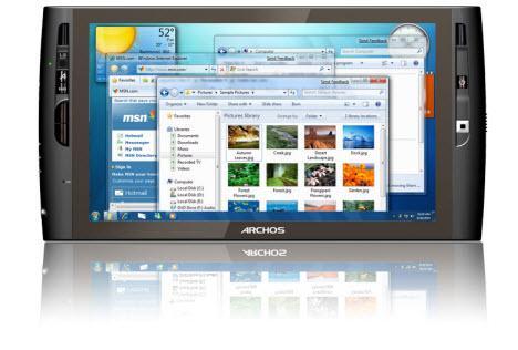Archos 9 tablet bilgisayar artık daha hızlı bir işlemci kullanıyor