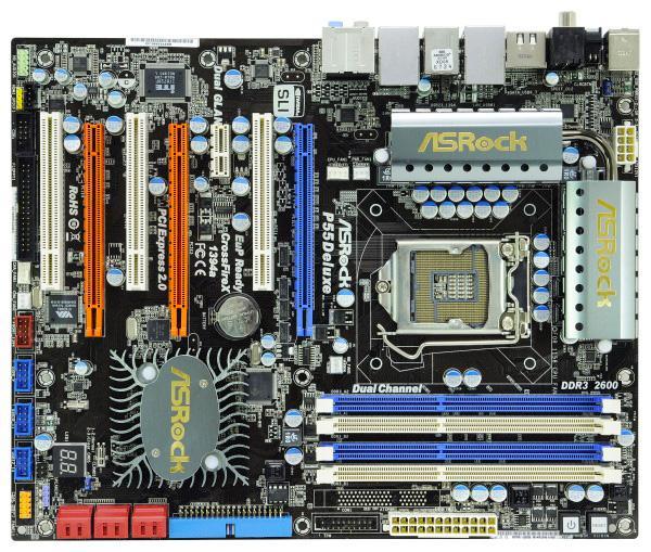 P55 yonga setli ASRock P55 Deluxe LGA775 soğutucuları da destekliyor