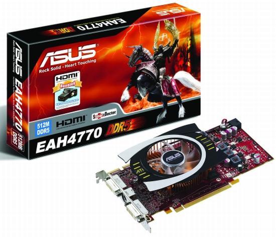Hız aşırtmalı ilk Radeon HD 4770 modelini Asus duyurdu