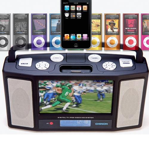 Chinon'dan LCD ekranlı iPod ses sistemi: Avi