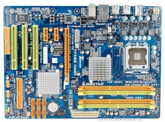 Biostar'dan DDR2/DDR3 bellek desteği sunan yeni anakart; TP45E Combo