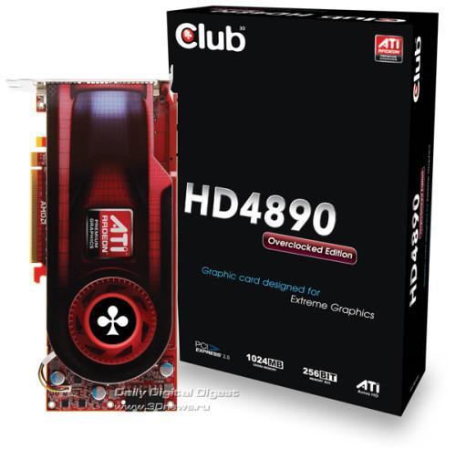 Club3D, Radeon HD 4890 Overclock Edition modelini duyurdu